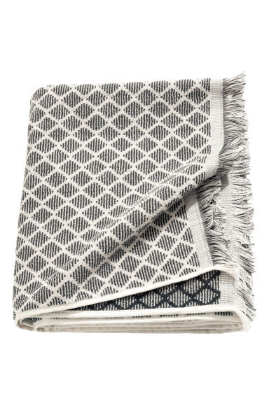 Drap de douche tissé jacquard - Gris anthracite - Home All | H&M FR