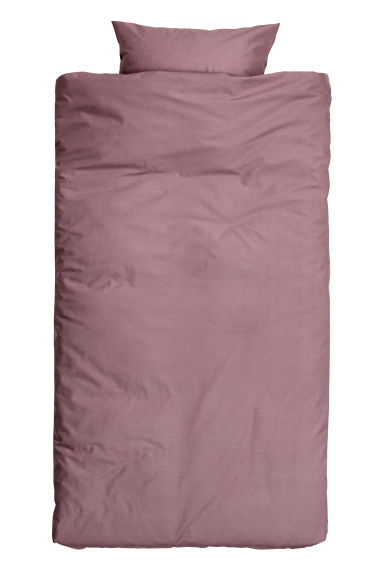 Cotton duvet cover set - Heather - Home All | H&M IE