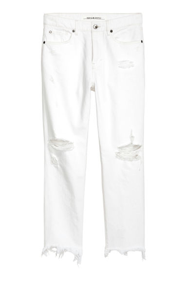 Slim High Cropped Jeans - Vit denim - DAM | H&M SE