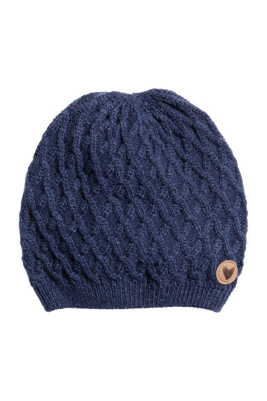 Textured-knit hat - Dark blue - Kids | H&M CN