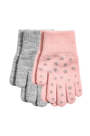 2-pack gloves - Light pink/Stars - Kids | H&M IE