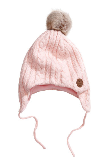 Fleece-lined hat - Light pink - Kids | H&M GB