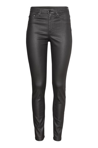 Skinny High Jeans - Zwart/coating - DAMES | H&M NL