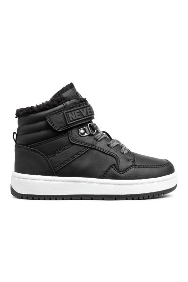 Pile-lined hi-tops - Black -  | H&M GB