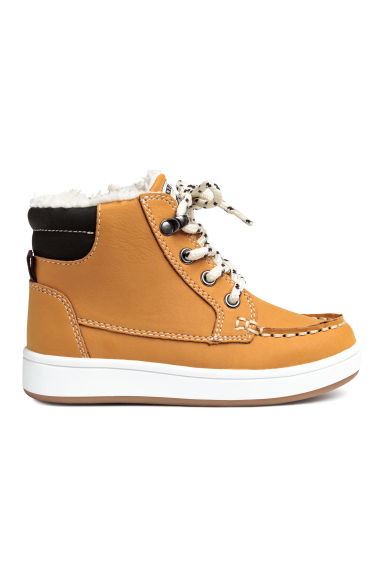 Warm-lined hi-tops - Dark yellow - Kids | H&M GB