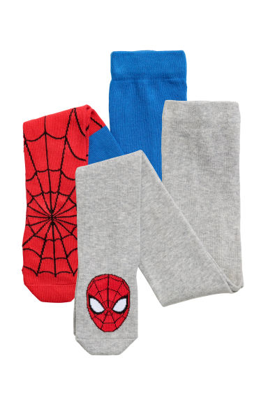 Collants, lot de 2 - Rouge/Spiderman -  | H&M BE