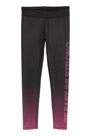 Sports tights - Black/Cerise - Kids | H&M