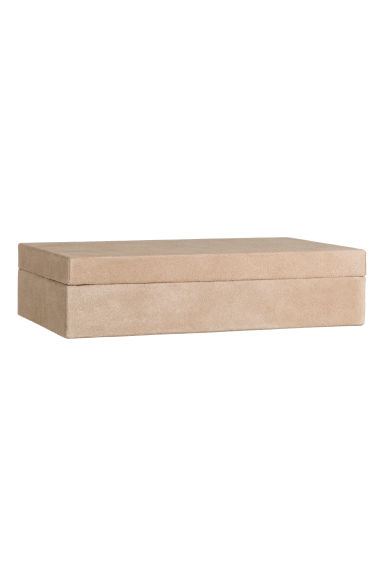 Rectangular suede box - Camel - Home All | H&M GB