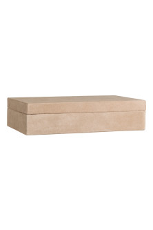 Rectangular suede box