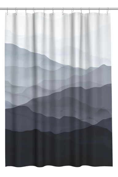 Patterned shower curtain - Blue/Patterned - Home All | H&M CN