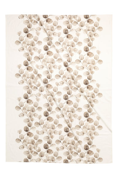 Patterned cotton tablecloth - White/Leaf - Home All | H&M IE