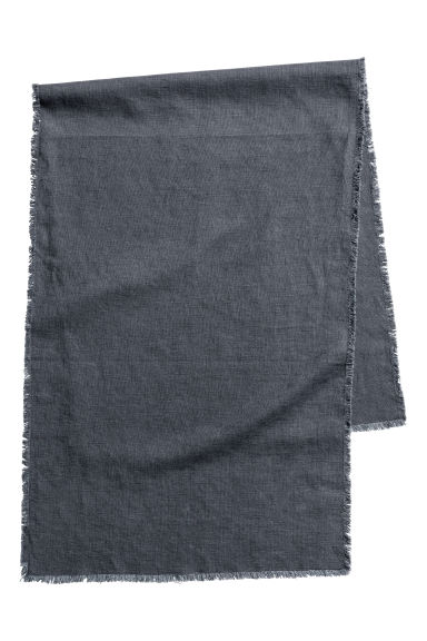 Table runner with fringe trims - Anthracite grey -  | H&M IE