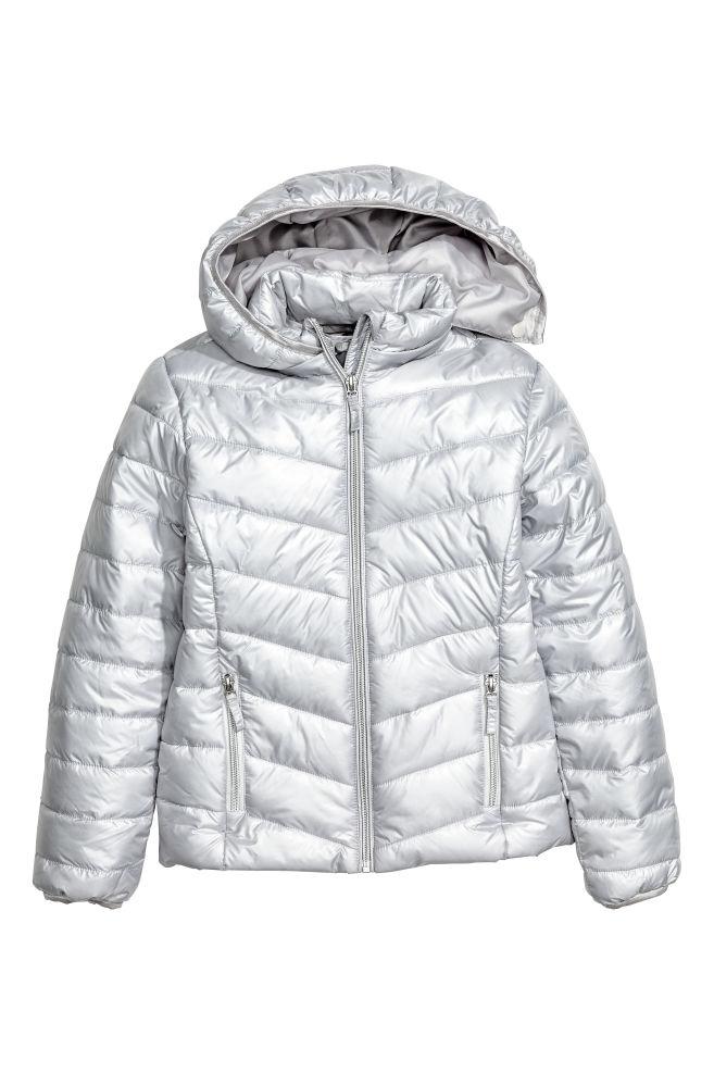 6092bf18 Vattert jakke - Sølvfarget - BARN | H&M ...