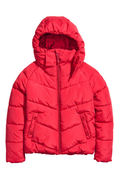 Padded jacket - Red -  | H&M IE