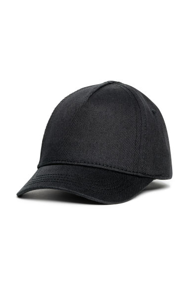 Cotton twill cap - Black -  | H&M