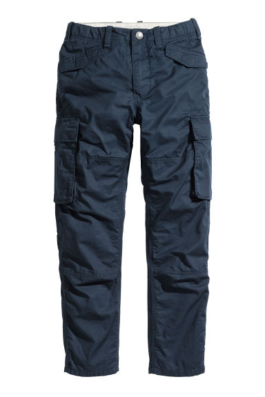 Lined cargo trousers - Dark blue - Kids | H&M