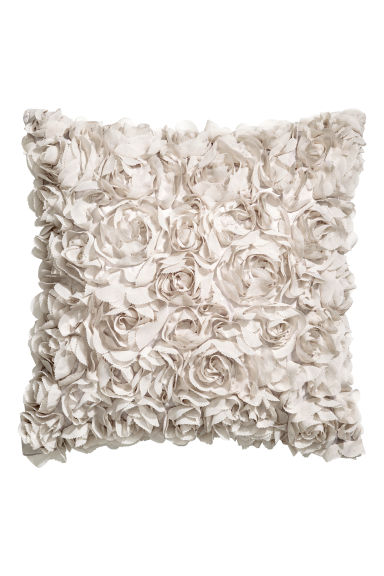 Chiffon-flowered cushion cover - Light beige - Home All | H&M CN