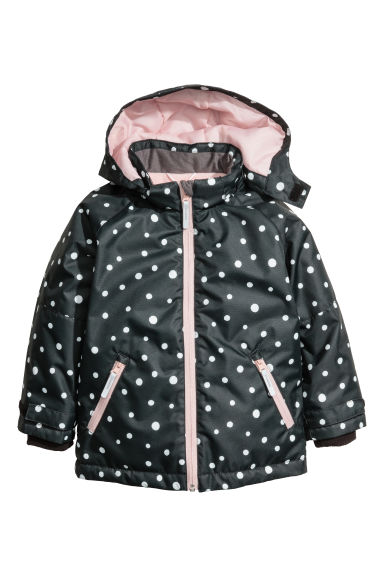 Outdoor jacket - Black/Spotted - Kids | H&M CN