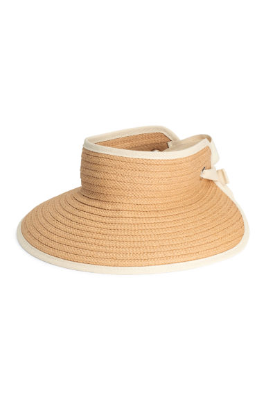 Straw visor - Natural - Ladies | H&M GB