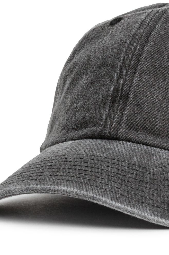 6a8d2154918 ... Washed cotton cap - Black - Men