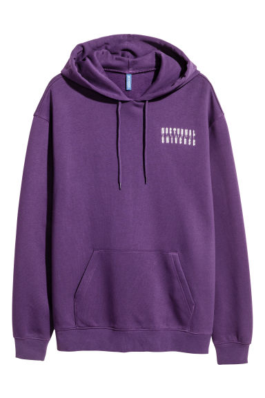 Hooded top with a print motif - Purple -  | H&M