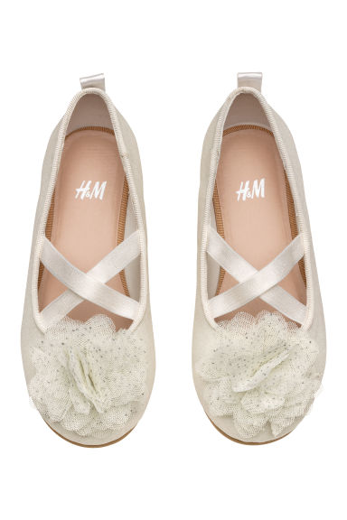 Ballet pumps - White/Glittery - Kids | H&M CN