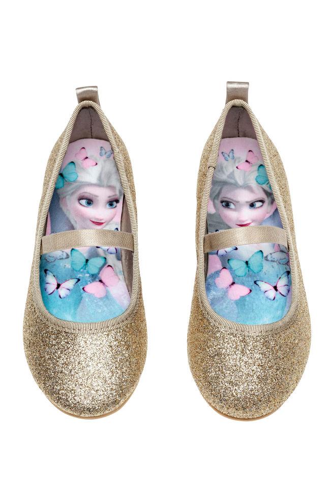 42f56cc49 Glittery ballet pumps - Gold-coloured/Frozen - Kids | H&M 1