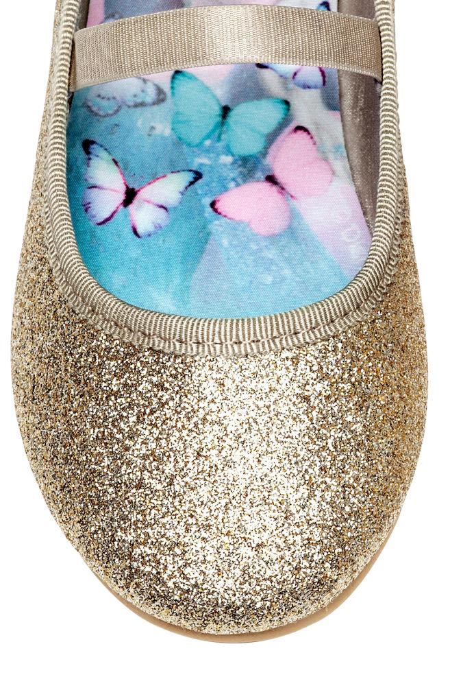 dc5185ea1 ... Glittery ballet pumps - Gold-coloured/Frozen - Kids | H&M 3