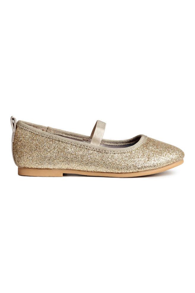 9f083adea Glittery ballet pumps - Gold-coloured/Frozen - Kids | H&M ...