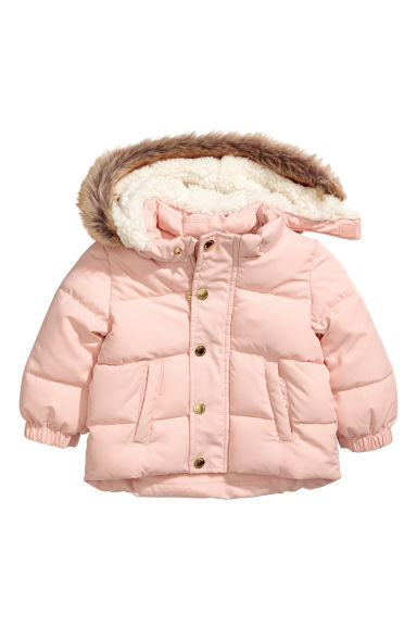 Padded jacket - Powder pink - Kids | H&M CN