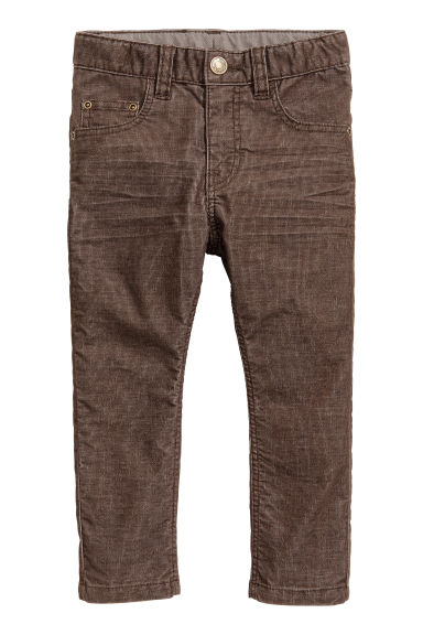 Corduroy trousers - Dark brown -  | H&M
