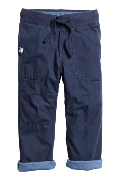 Lined joggers - Dark blue - Kids | H&M GB