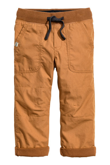 Lined joggers - Camel -  | H&M GB