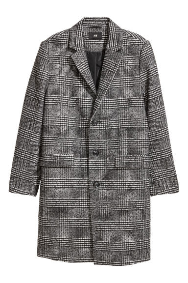 Wool-blend coat - Grey/Checked - Men | H&M GB