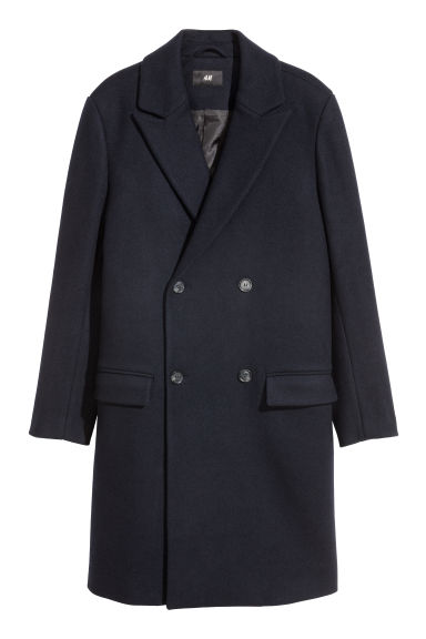 Double-breasted Coat - Dark blue - Men | H&M CA