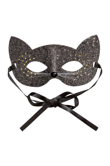 Glittery fancy dress mask - Black/Glittery - Ladies | H&M IE