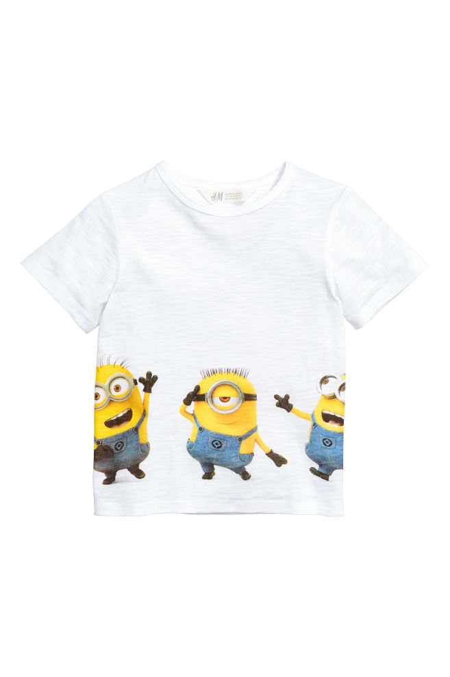 f14e0bff2a Nyomott mintás póló - Fehér/Minyonok - GYEREK | H&M ...
