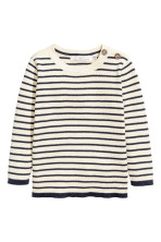White/Dark blue striped