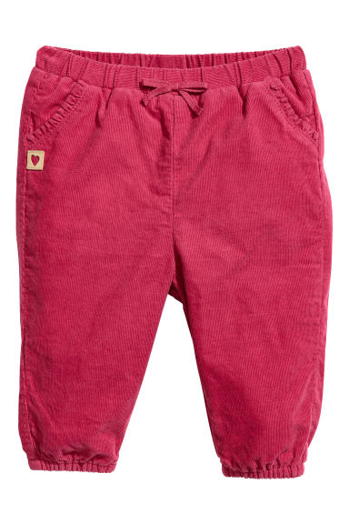 Lined pull-on trousers - Raspberry red - Kids | H&M IE