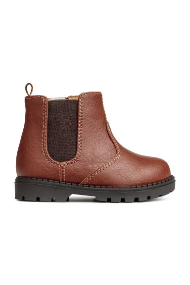 Warm-lined boots - Cognac brown -  | H&M IE
