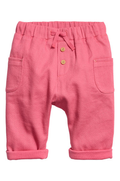 Katoenen pull-on broek - Frambozenroze -  | H&M BE