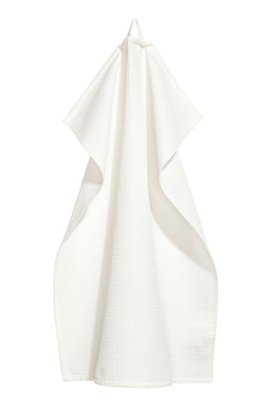 Waffled tea towel - White - Home All | H&M CN