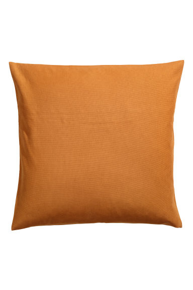 Cotton canvas cushion cover - Camel - Home All | H&M IE