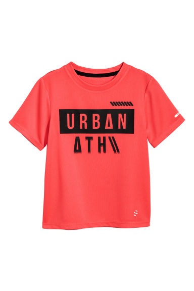 T-shirt training - Rouge corail -  | H&M BE