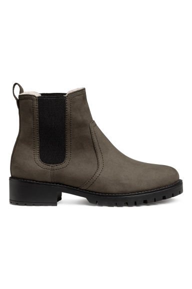 Varmfodrade chelseaboots - Mullvad -  | H&M FI