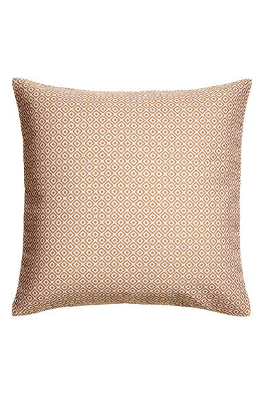 Jacquardgeweven kussenhoes - Camel - HOME | H&M NL