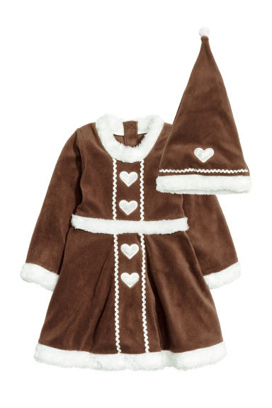 Gingerbread dress and hat - Brown - Kids | H&M GB