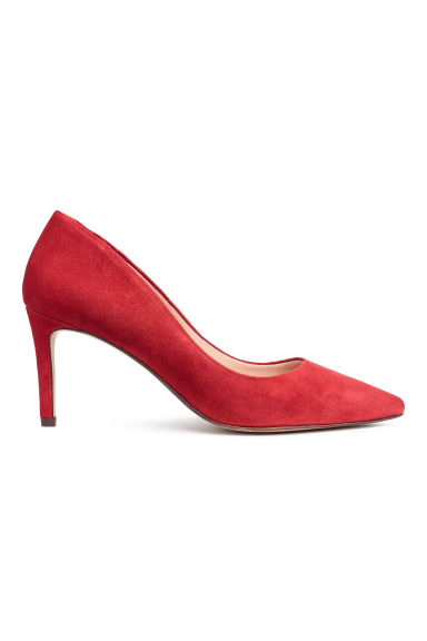 Court shoes with covered heels - Red -  | H&M