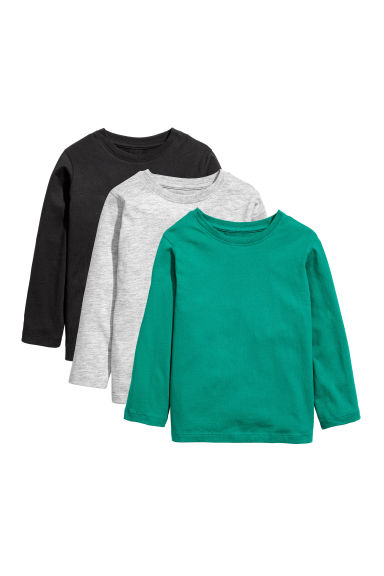 3-pack Jersey Shirts - Green - Kids | H&M US