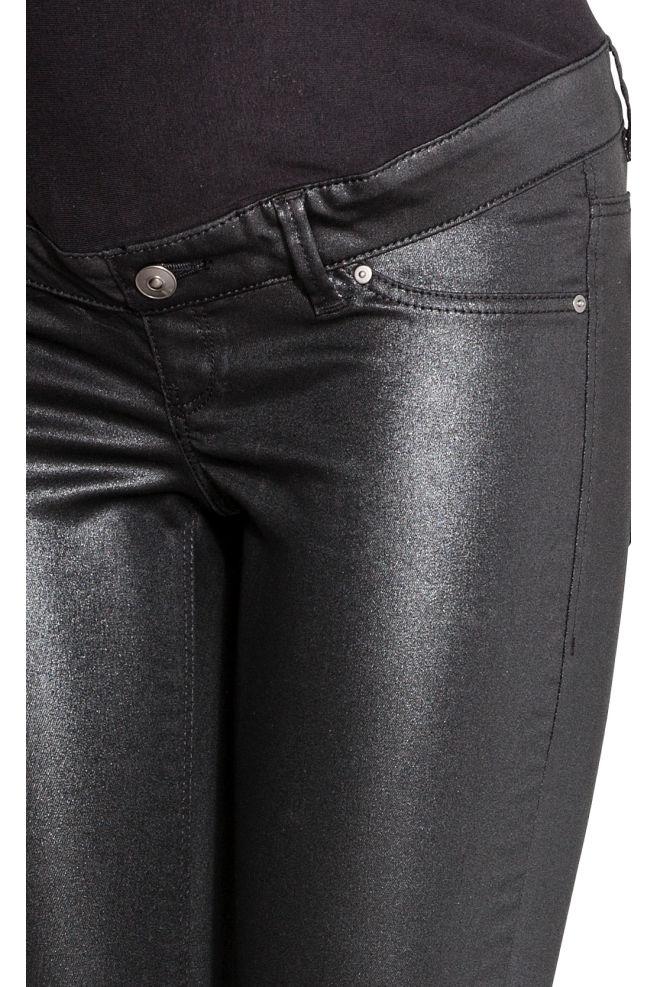 3f7eab8949eb2 ... MAMA Skinny Coated Jeans - Black - Ladies | H&M ...